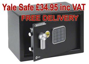 Yale digital home safe £34.95 inc vat & free delivery