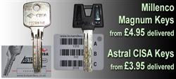 Millenco Magnum & CISA Astral & Astral S Key cutting
