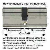 How to measure your cylinder lock