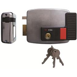 Cisa 11931 Electric Rim Lock With Hold Back for Metal Doors & Gates