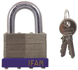 <b>Ifam Laminated Standard Shackle Padlock</b>