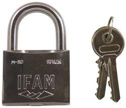 <b>Ifam 30mm, 40mm & 50mm Stainless Steel Standard Shackle Padlock Keyed Alike</b>