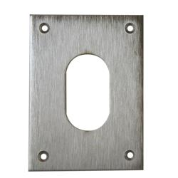 <b>Souber UE1/4H Large Screw On Oval Escutcheon</b>