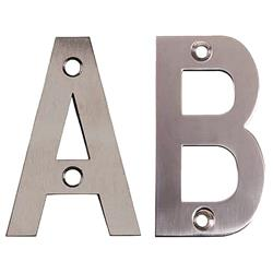 <b>75mm Face Fix Letters Satin Stainless Steel</b>