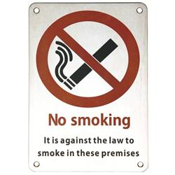 <b>Stainless Steel No Smoking Sign</b>