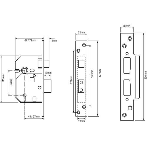 Union 2234e 5 Lever Bs 3621 2007 Sashlock 67mm 2 5 Quot