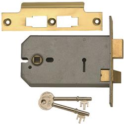 <b>Union 2077 3 Lever Horizontal Mortice Lock</b>