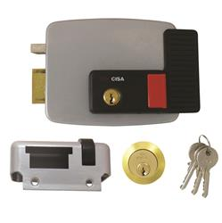 <b>Cisa 11630 Electric Rim Lock With Hold Back  for Timber Doors</b>