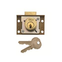 <b>Union 4137 4 Pin Cylinder Deadbolt Cut Cupboard/Drawer Lock</b>