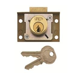 <b>Union 4138 4 Pin Cylinder Deadbolt Cut Cupboard/Till Lock</b>