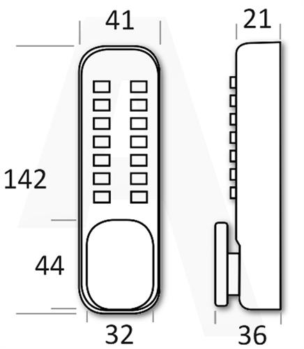 borg 2201 easy code pro tubular mortice latch hold back