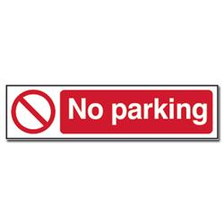 ASEC `No Parking` Sign 200mm x 50mm