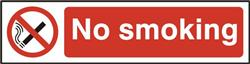 ASEC `No Smoking` 200mm x 50mm PVC Self Adhesive Sign