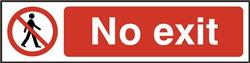 ASEC `No Exit` 200mm x 50mm PVC Self Adhesive Sign