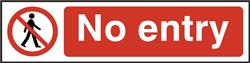ASEC `No Entry` 200mm x 50mm PVC Self Adhesive Sign