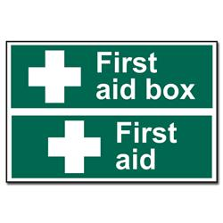 ASEC First Aid Box Sign 300mm x 200mm