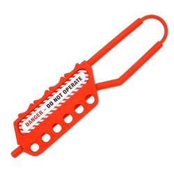 ASEC Nonconductive Lockout Tagout Hasp 6 Holes 6mm Thread